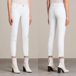 All Saints Jeans - All saints Mast White Jeans